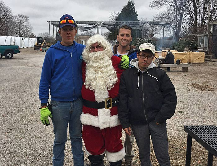Santa and the Country Arbors crew